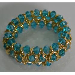 Браслет голубые кристаллы№408
