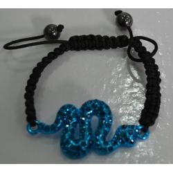 Браслет шамбала синяя змея№414