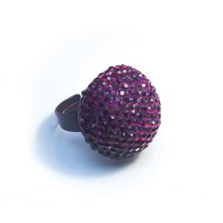 Кольцо с винными камнями№5