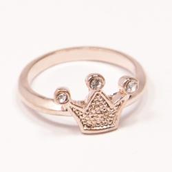 Кольцо Аэлина№130 коронка под золото с белыми стразами ,размерное