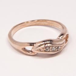 Кольцо Аэлина№102 под золото с белыми стразами ,размерное