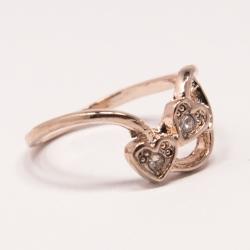 Кольцо Аэлина№82 под золото с белыми стразами