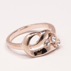 Кольцо Аэлина№89 под золото с белыми стразами ,размерное