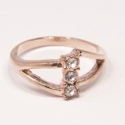 Кольцо Аэлина№105 под золото с белыми стразами ,размерное