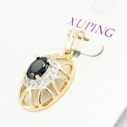 Кулон Xuping№243 с черным цирконом.