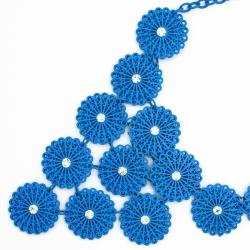 Подвеска№1314 колье синие ромашки