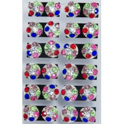Гвоздики№60 шарик из цветных страз