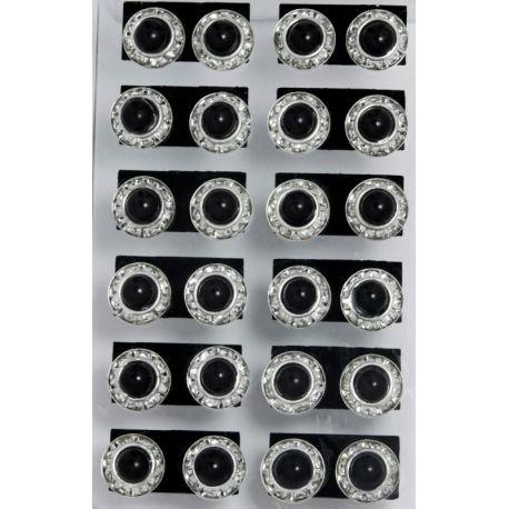 Гвоздики№68 белые стразы .собранные в кружочек