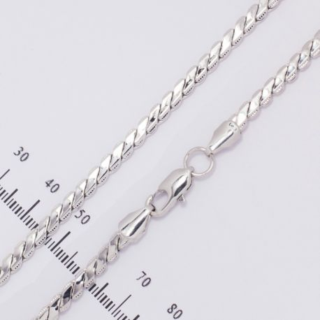 Цепочка№81 длина 50 см с удлинителем, под серебро.