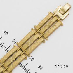 Браслет Xuping№211 широкий матовый с алмазной насечкой