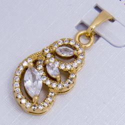 Кулон Xuping№429 с белыми цирконами на основе под золото.