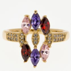 Кольцо Xuping№344 оптом с маркизами разного цвета.