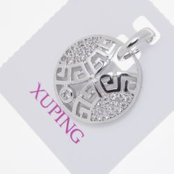 Кулон Xuping№567 оптом ажурный с орнаментом и цирконами.