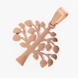 Кулон сталь№314 оптом ажурное медное дерево.