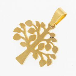 Кулон сталь№315 оптом ажурное золотое дерево.