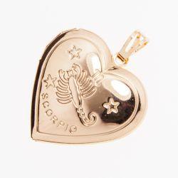 Кулон Xuping№620 оптом в форме сердечка со знаком зодиака.