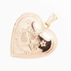 Кулон Xuping№621 оптом в форме сердечка со знаком зодиака.