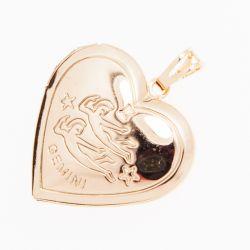 Кулон Xuping№622 оптом в форме сердечка со знаком зодиака.