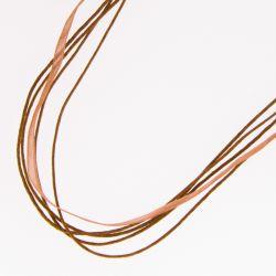 Подвеска№2221 оптом 50 см, коричневого цвета.