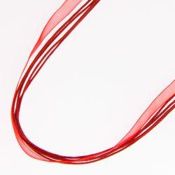 Подвеска№2223 оптом 50 см, красного цвета.