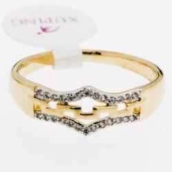 Кольцо Xuping№401 оптом под золото с маленькими камнями.