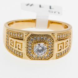 Кольцо Xuping№412 оптом под золото с цирконами.