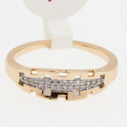 Кольцо Xuping№427 оптом под золото с цирконами.