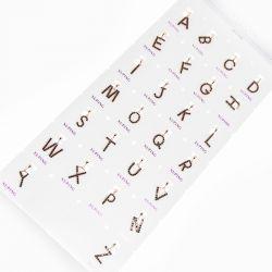 Кулон Xuping№646 оптом буквы с цирконами черного цвета.