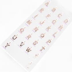 Кулон Xuping№647 оптом буквы с цирконами белого цвета.