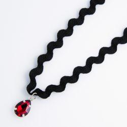 Чекер№2247 оптом черного цвета с красной каплей.