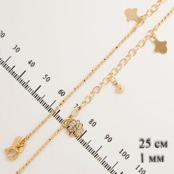 Браслет Xuping№474 25 см оптом под золото на ногу.