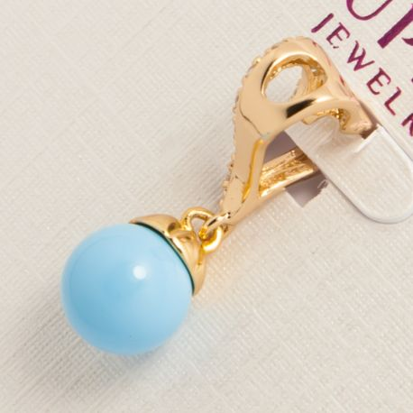 Кулон Xuping№662 оптом с шариком голубого цвета.