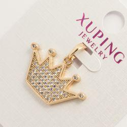 Кулон Xuping№702 оптом коронка под золото с камнями.