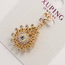Кулон Xuping№720 оптом под золото ажурный.