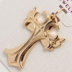 Крестик Xuping№801 оптом оригинальной формы под золото.