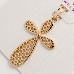Крестик Xuping№809 оптом ажурный в цвете под золото.