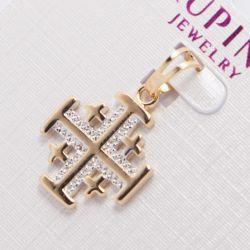 Кулон Xuping№824 оптом с маленькими крестиками и камнями.