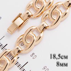 Браслет Xuping№525 18.5 см подковки в ажурном соединении оптом