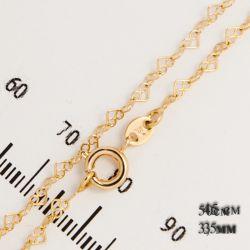 Цепочка Xuping№822 оптом 45см алмазные сердечки