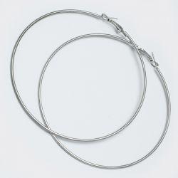 Серьги-кольца№1642 8.5 см цена за 12 шт оптом белого цвета.