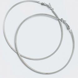 Серьги-кольца№1643 7.5 см цена за 12 шт оптом белого цвета.