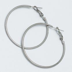 Серьги-кольца№1647 4 см цена за 12 шт оптом белого цвета.