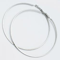 Серьги-кольца№1650 8.5 см цена за 12 шт оптом белого цвета.