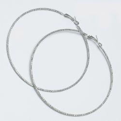 Серьги-кольца№1658 8.5 см цена за 12 шт оптом белые.