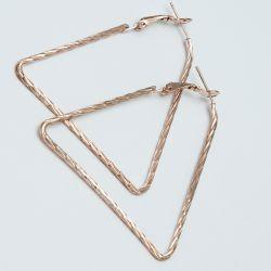 Серьги№1676 оптом цена за 12 шт треугольники под золото.