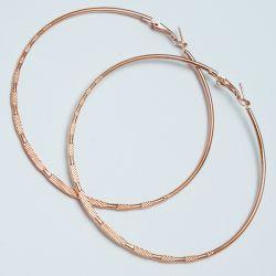 Серьги-кольца№1682 6.5 см цена за 12 шт оптом под золото.