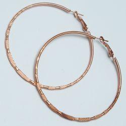 Серьги-кольца№1683 5.5 см цена за 12 шт оптом под золото.