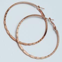 Серьги-кольца№1684 4.5 см цена за 12 шт оптом под золото.