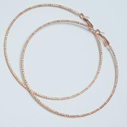 Серьги-кольца№1685 6.5 см цена за 12 шт оптом под золото.