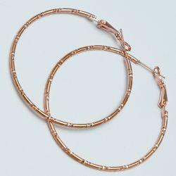 Серьги-кольца№1688 4 см цена за 12 шт оптом под золото.